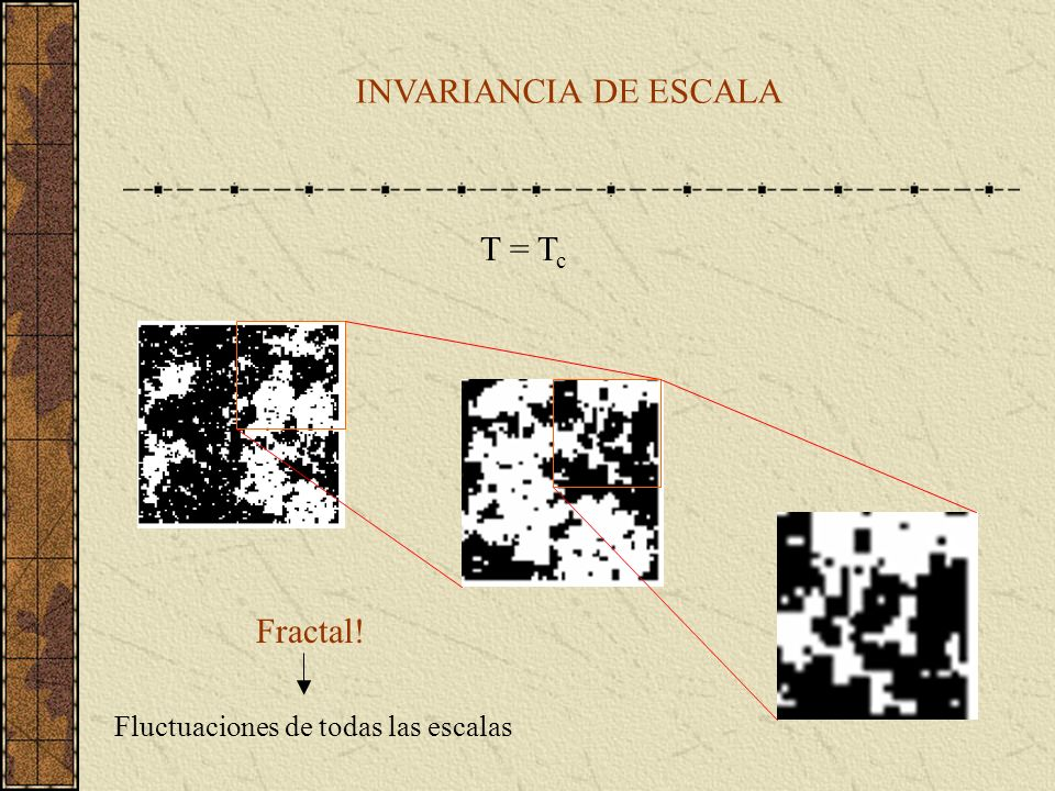 INVARIANCIA DE ESCALA T = Tc Fractal!