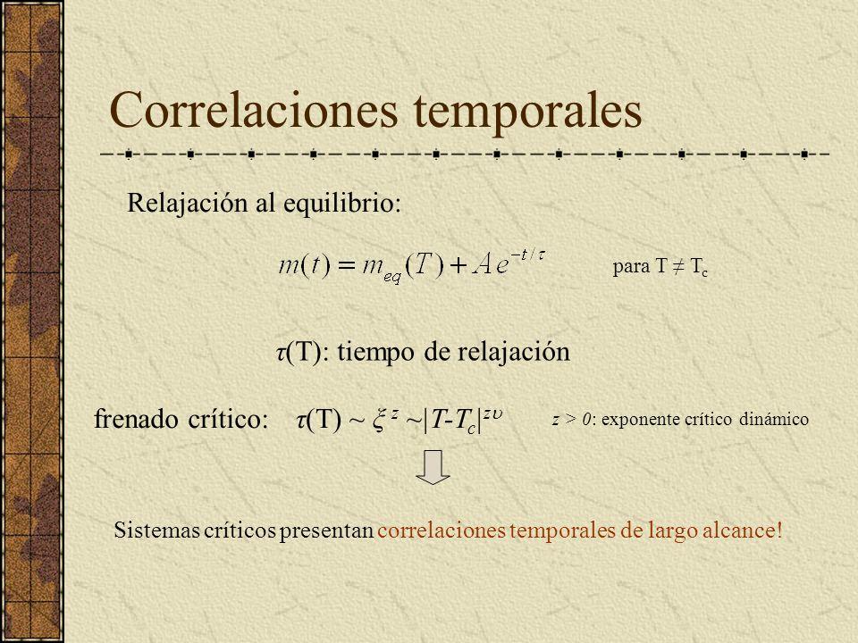 Correlaciones temporales