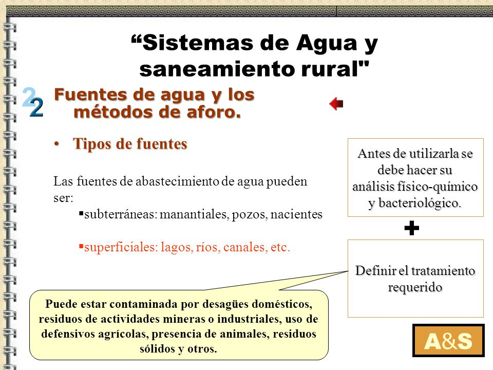 + Sistemas de Agua y saneamiento rural A&S