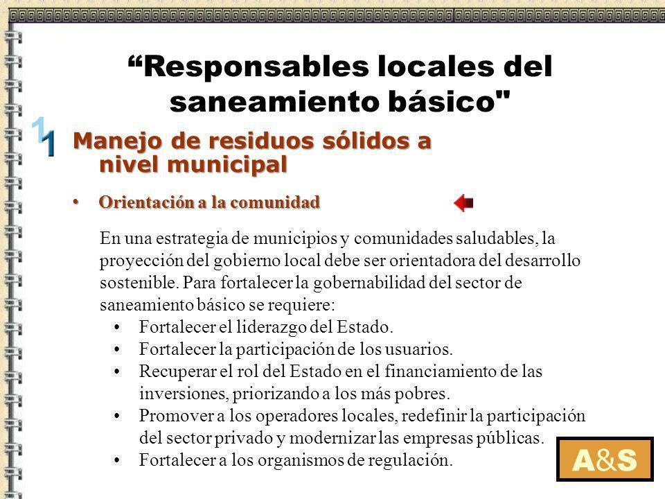 Manejo de residuos sólidos a nivel municipal