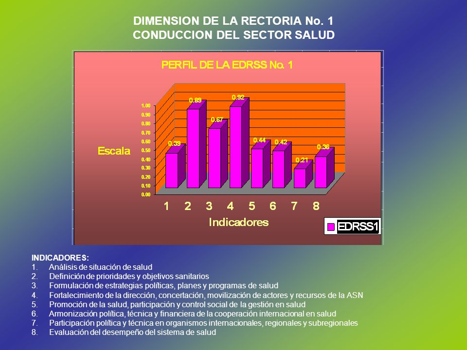 DIMENSION DE LA RECTORIA No. 1 CONDUCCION DEL SECTOR SALUD