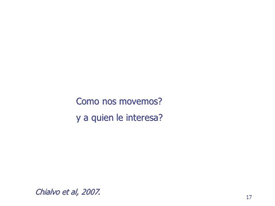 Como nos movemos y a quien le interesa Chialvo et al, 2007.
