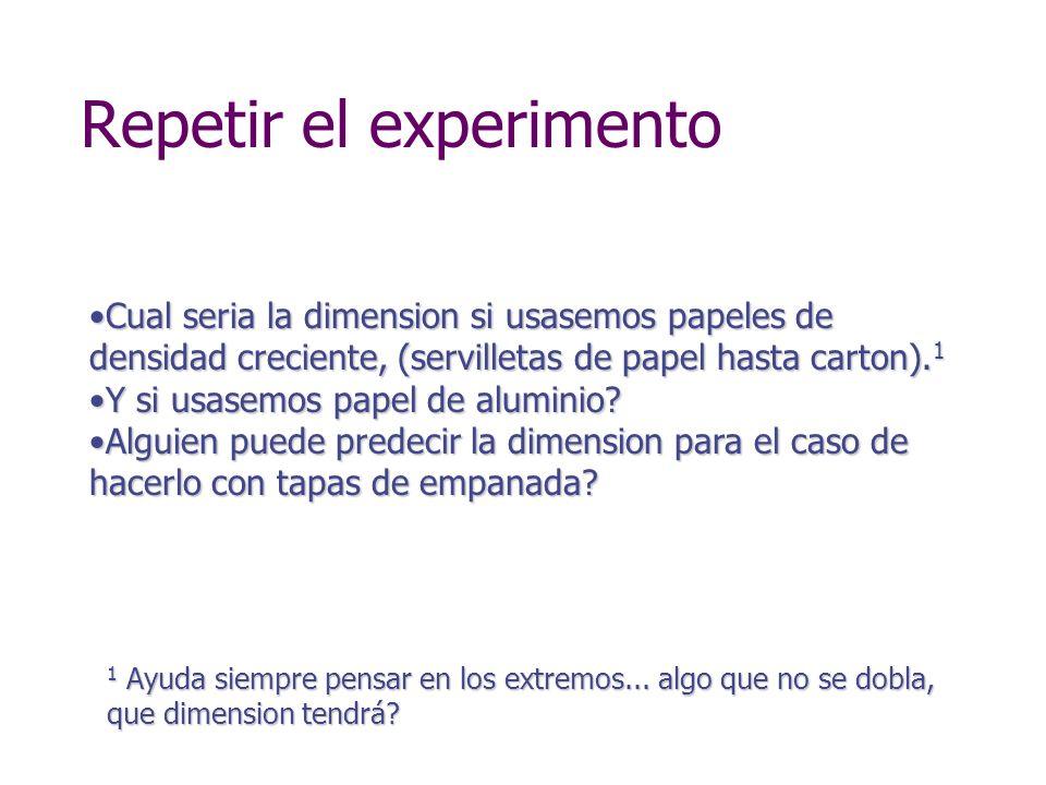 Repetir el experimento
