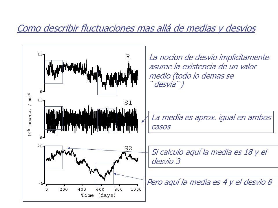 Como describir fluctuaciones mas allá de medias y desvios