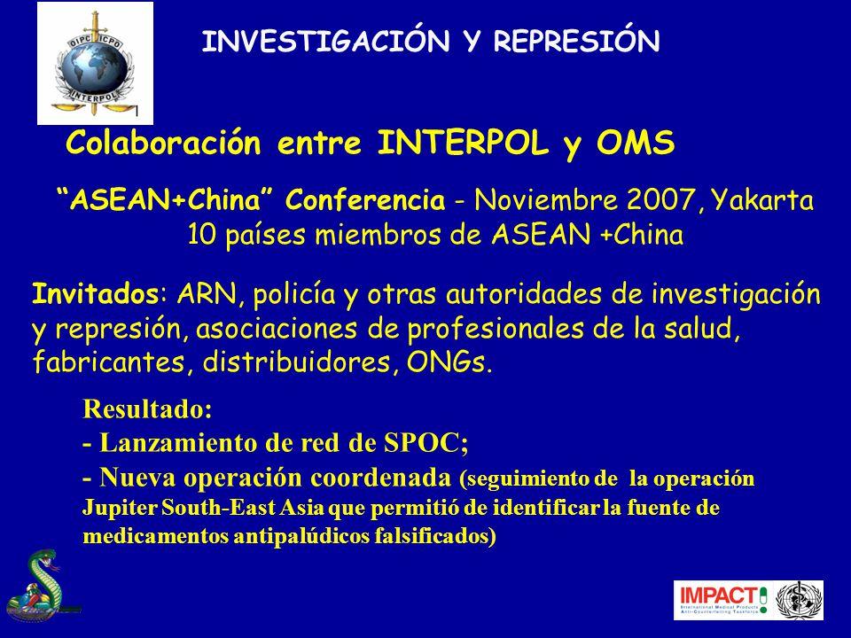 Colaboración entre INTERPOL y OMS