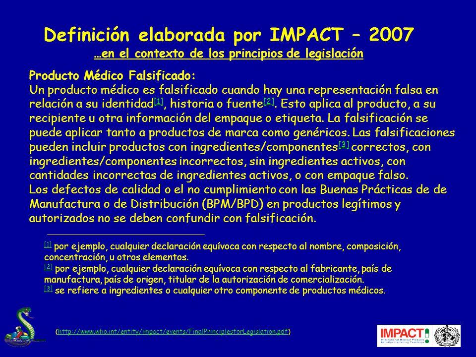 Definición elaborada por IMPACT – 2007