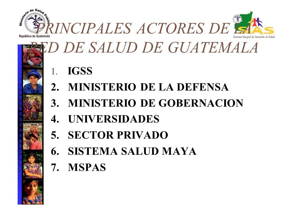 PRINCIPALES ACTORES DE LA RED DE SALUD DE GUATEMALA