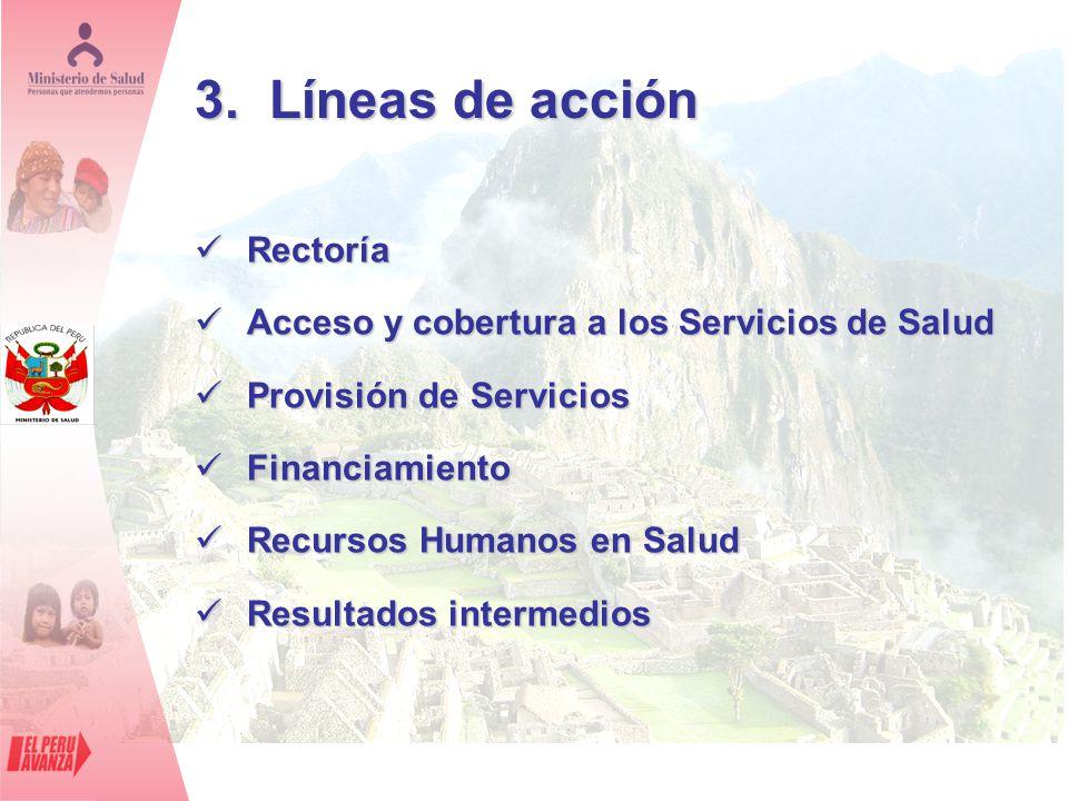 3. Líneas de acción Rectoría
