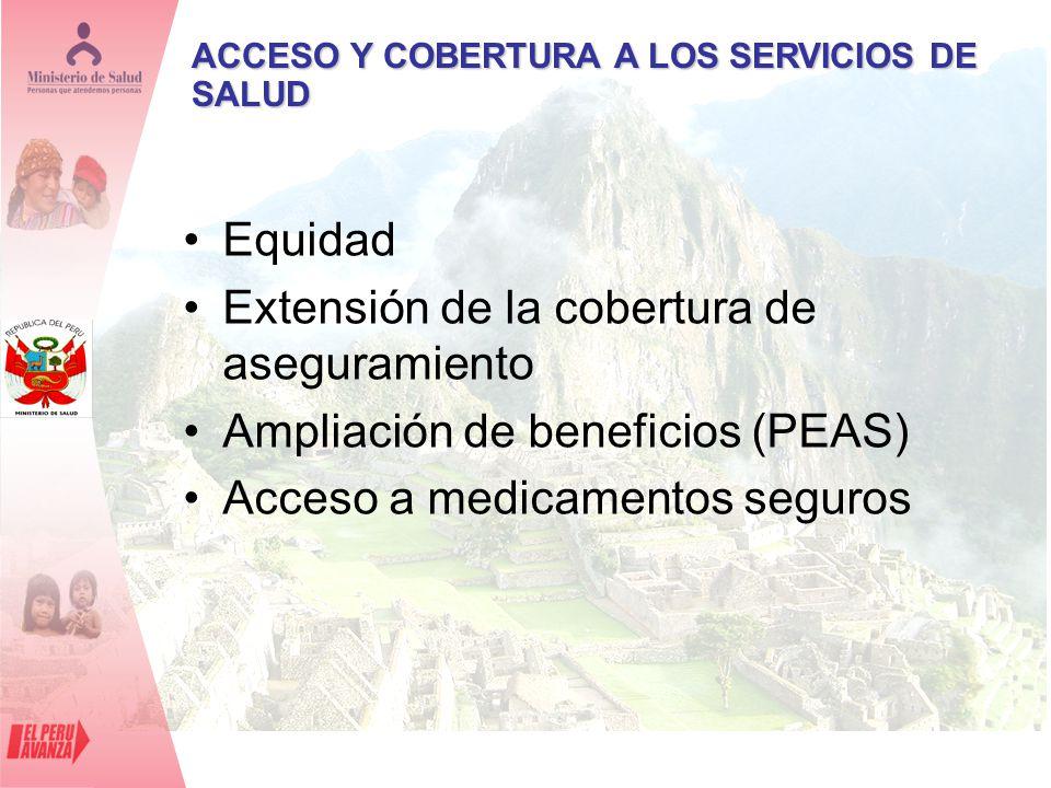 Extensión de la cobertura de aseguramiento