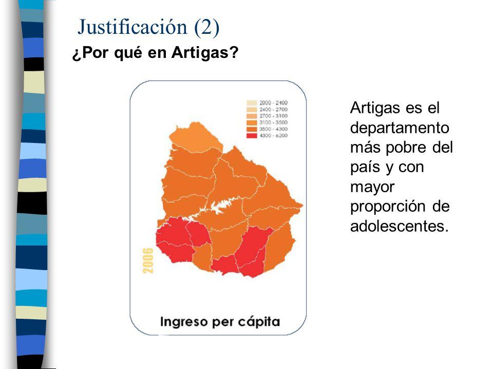 Justificación (2) ¿Por qué en Artigas