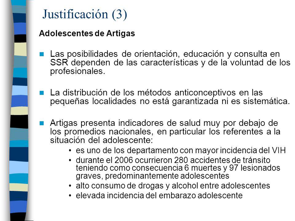 Justificación (3) Adolescentes de Artigas.