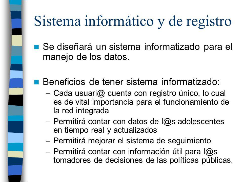 Sistema informático y de registro