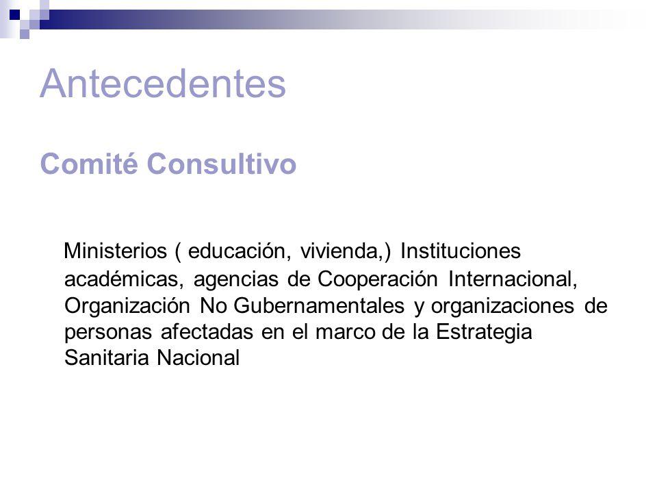 Antecedentes Comité Consultivo
