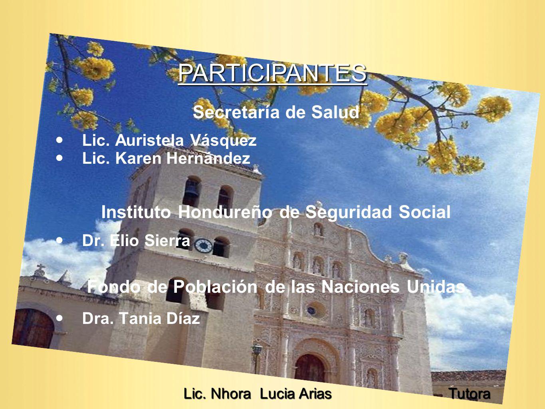 PARTICIPANTES Secretaría de Salud