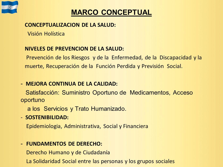 MARCO CONCEPTUAL CONCEPTUALIZACION DE LA SALUD: Visión Holística