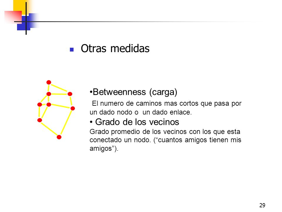 Otras medidas Betweenness (carga)
