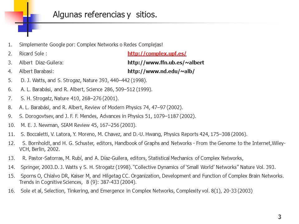 Algunas referencias y sitios.