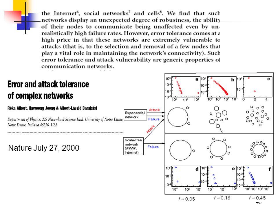 Nature July 27, 2000