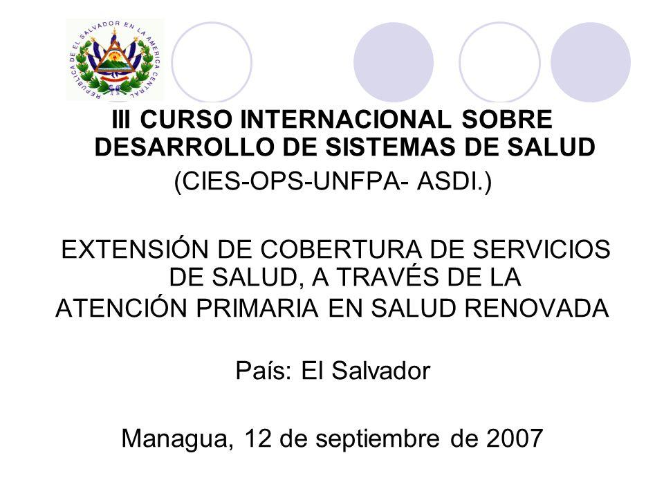 III CURSO INTERNACIONAL SOBRE DESARROLLO DE SISTEMAS DE SALUD