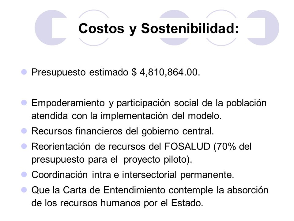 Costos y Sostenibilidad: