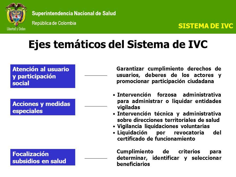 Ejes temáticos del Sistema de IVC