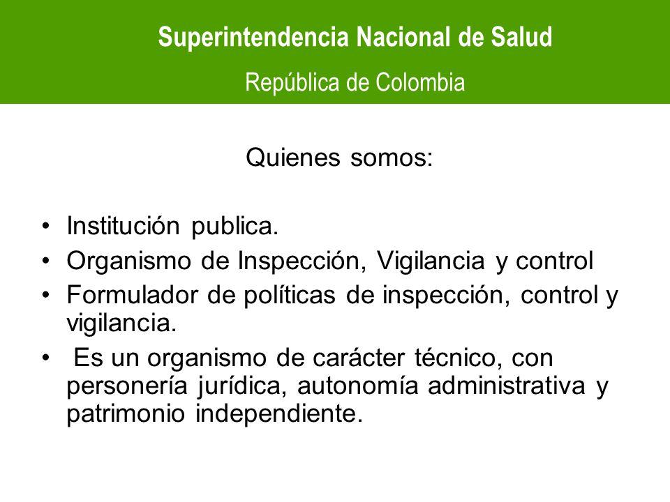 Superintendencia Nacional de Salud Superintendencia Nacional de Salud