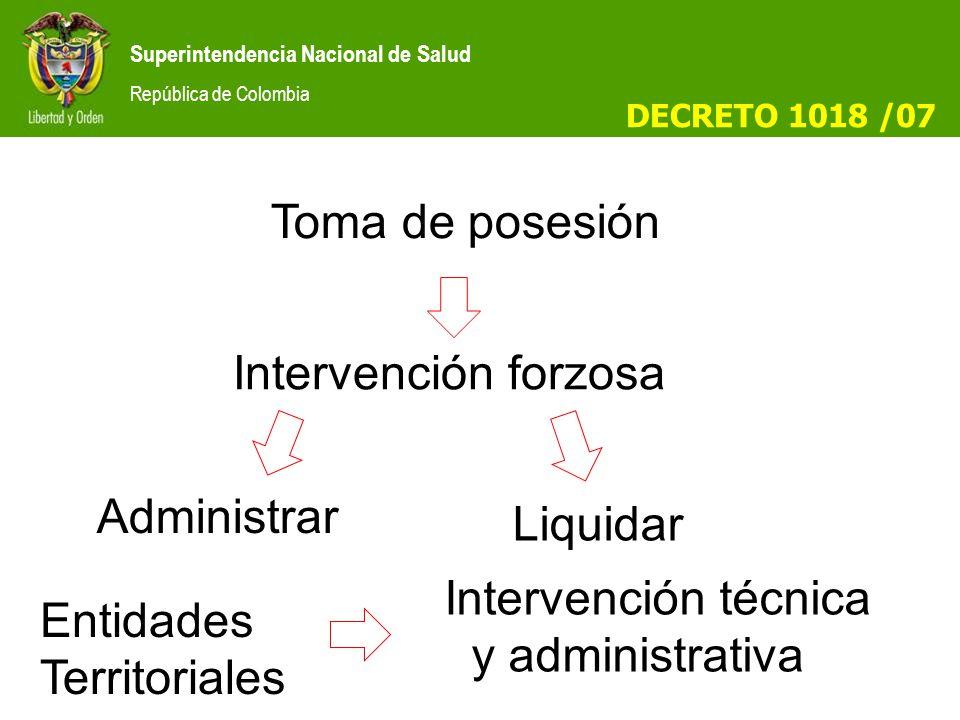 Intervención técnica y administrativa
