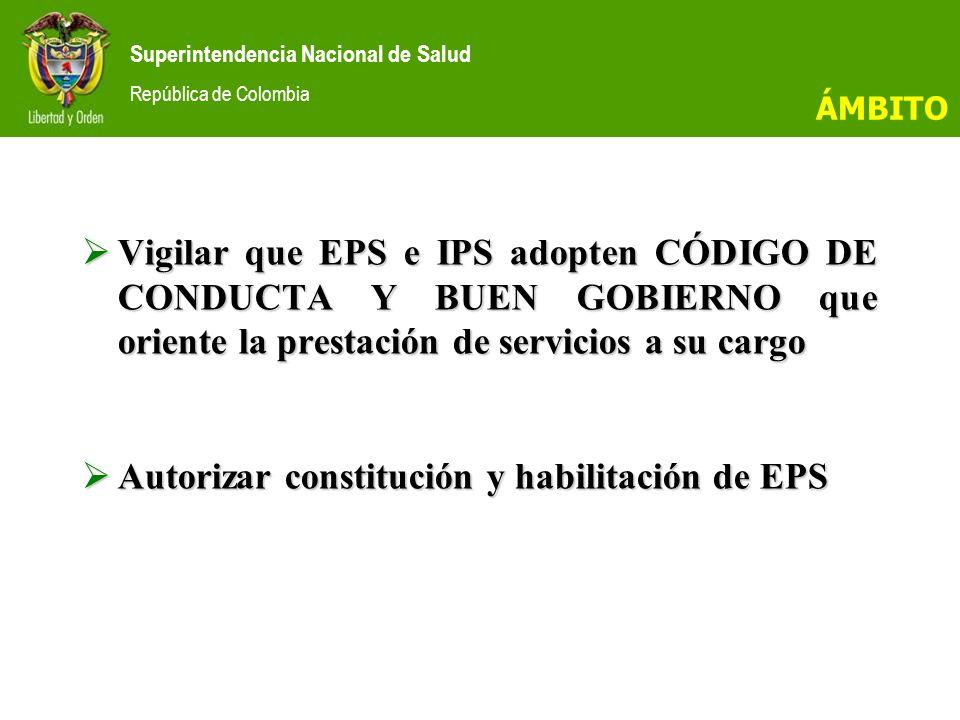 Autorizar constitución y habilitación de EPS