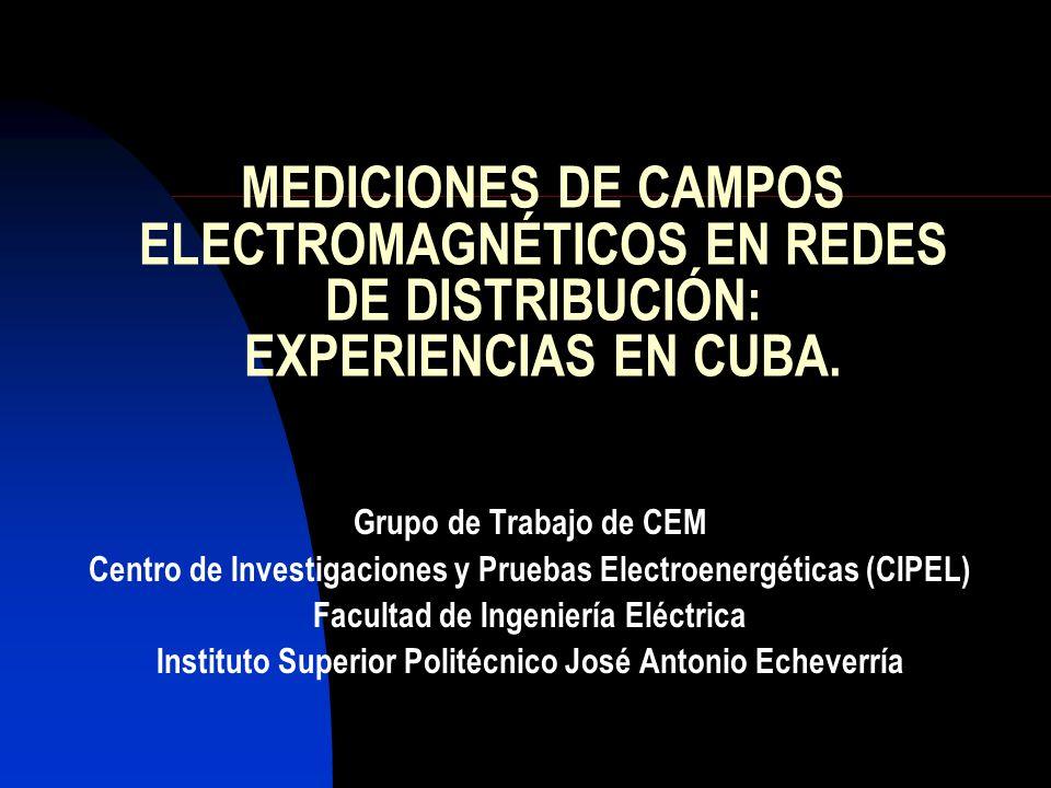 MEDICIONES DE CAMPOS ELECTROMAGNÉTICOS EN REDES DE DISTRIBUCIÓN: EXPERIENCIAS EN CUBA.