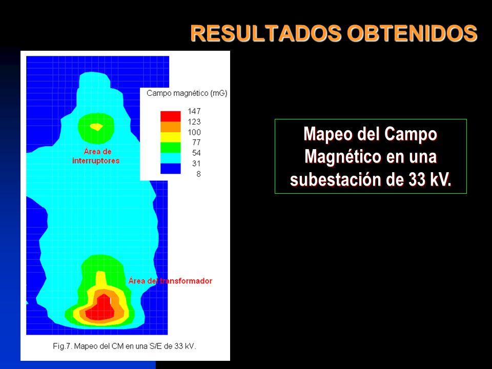 Mapeo del Campo Magnético en una subestación de 33 kV.
