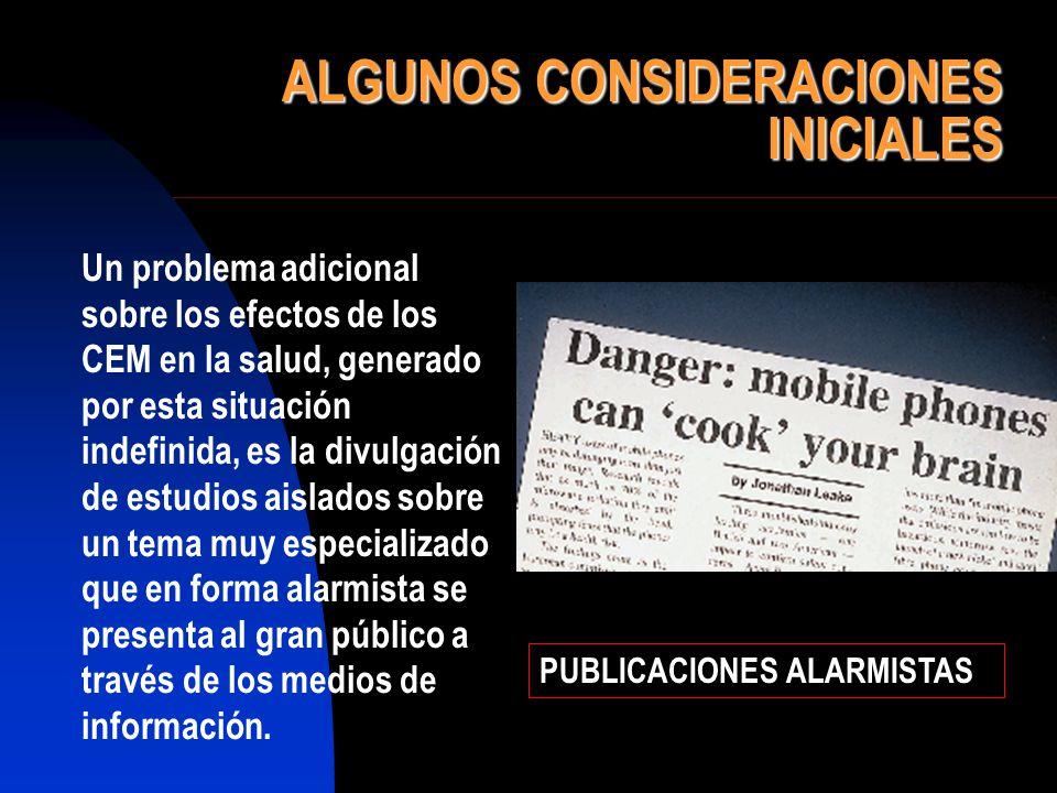 ALGUNOS CONSIDERACIONES INICIALES