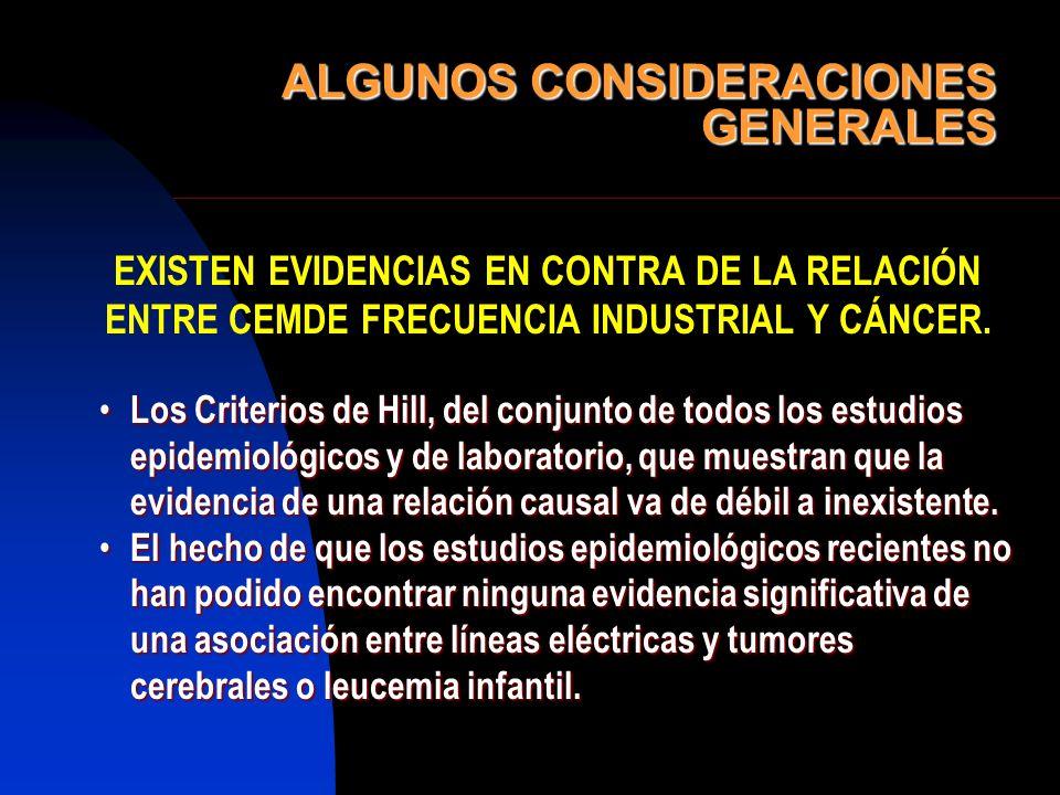 ALGUNOS CONSIDERACIONES GENERALES