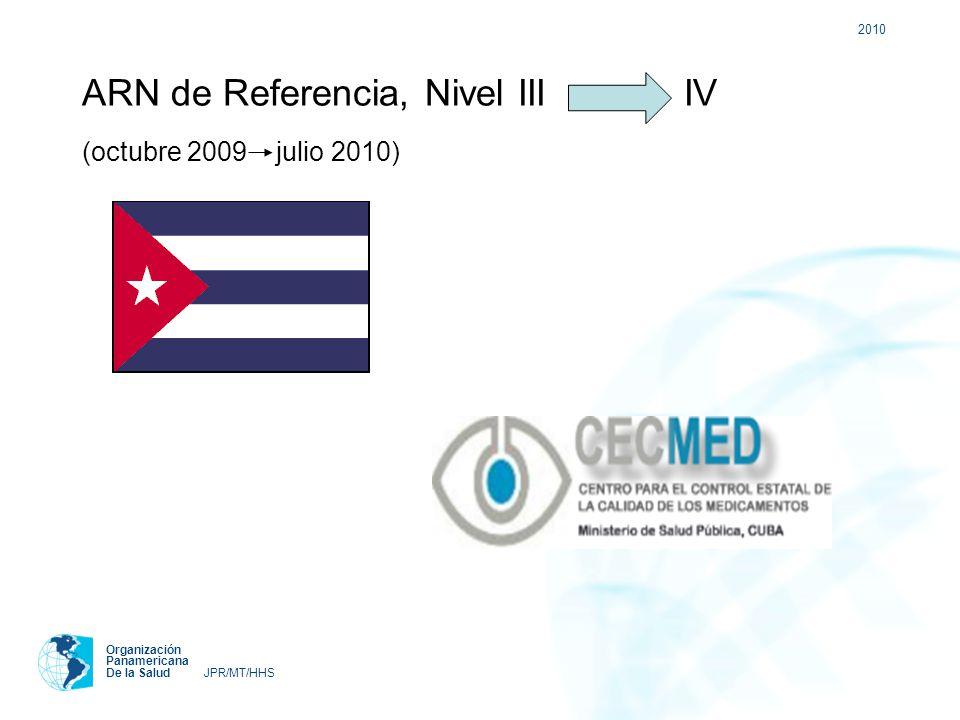 ARN de Referencia, Nivel III IV (octubre 2009 julio 2010)