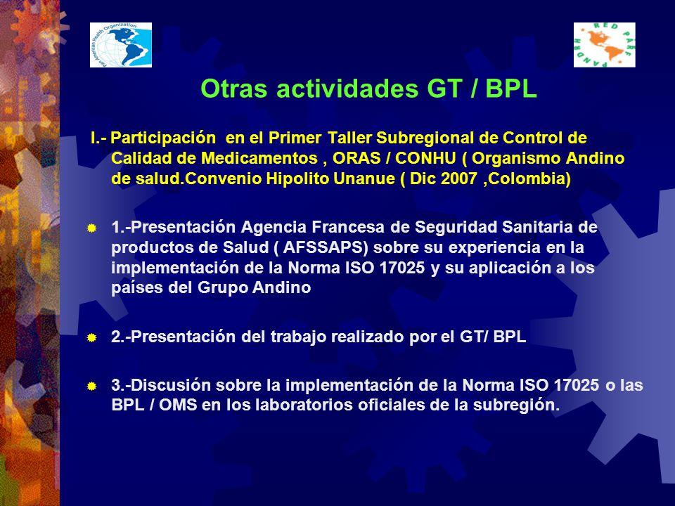Otras actividades GT / BPL