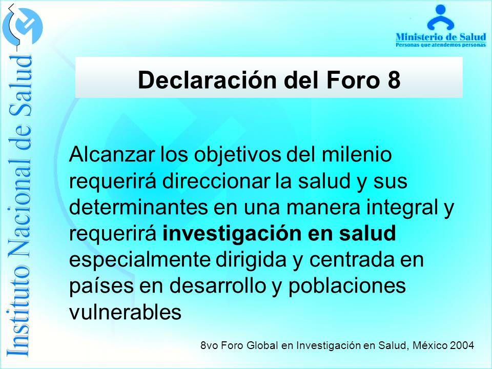 Declaración del Foro 8