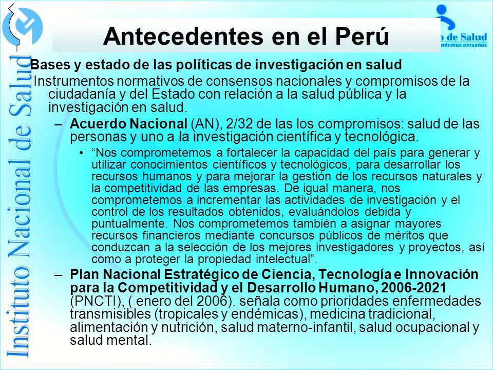 Antecedentes en el Perú