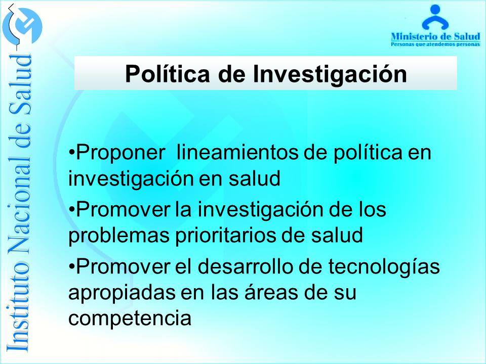 Política de Investigación