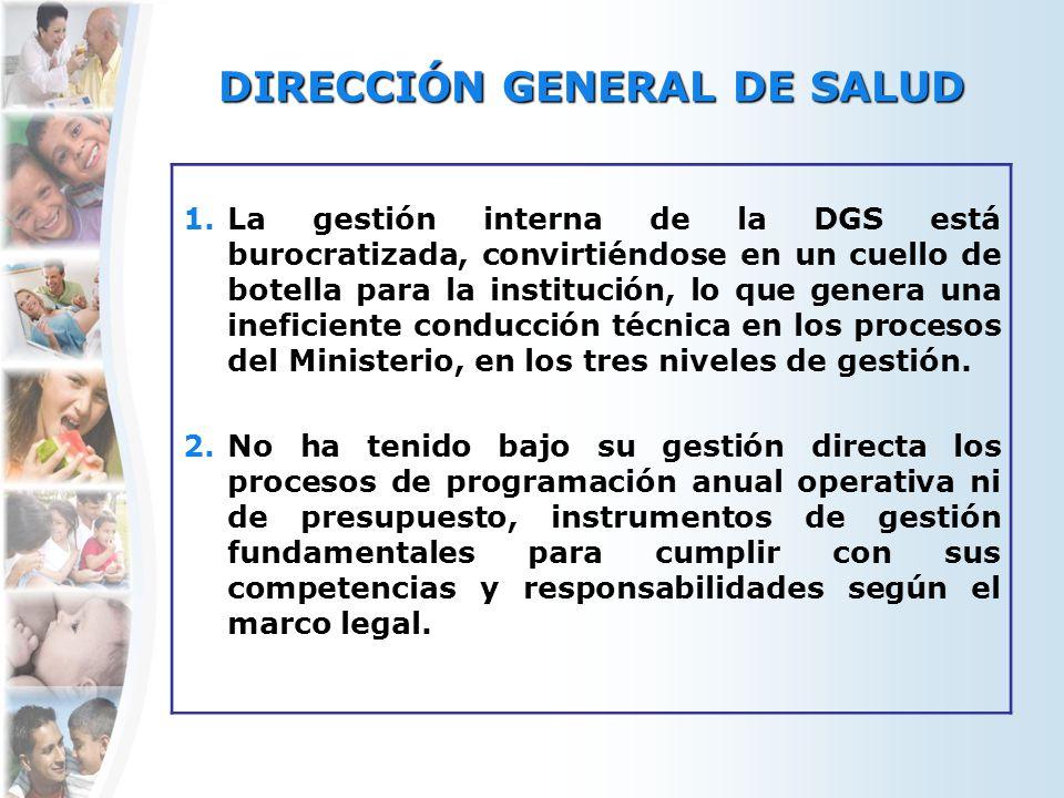 DIRECCIÓN GENERAL DE SALUD