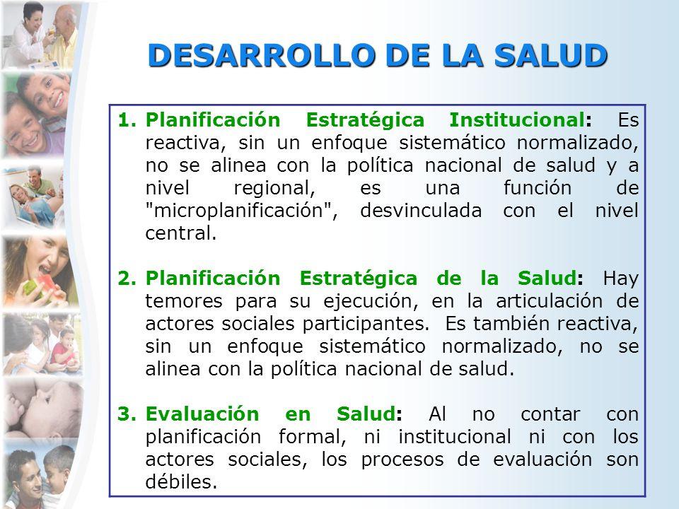 DESARROLLO DE LA SALUD