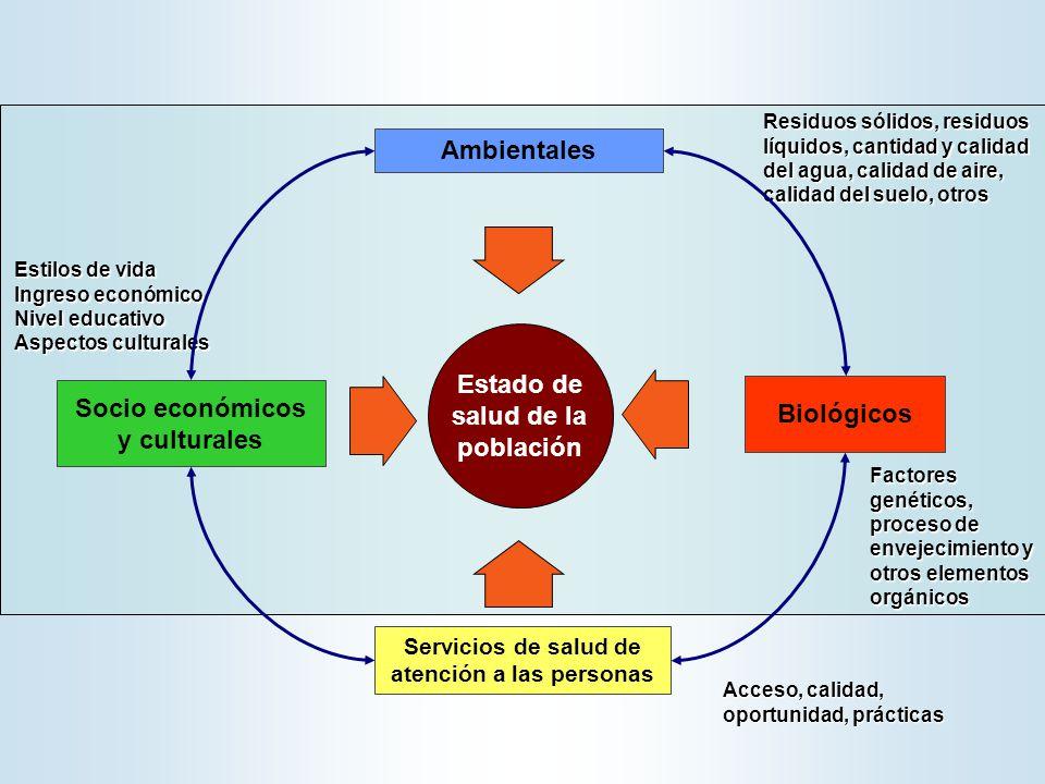 Estado de salud de la población Socio económicos y culturales