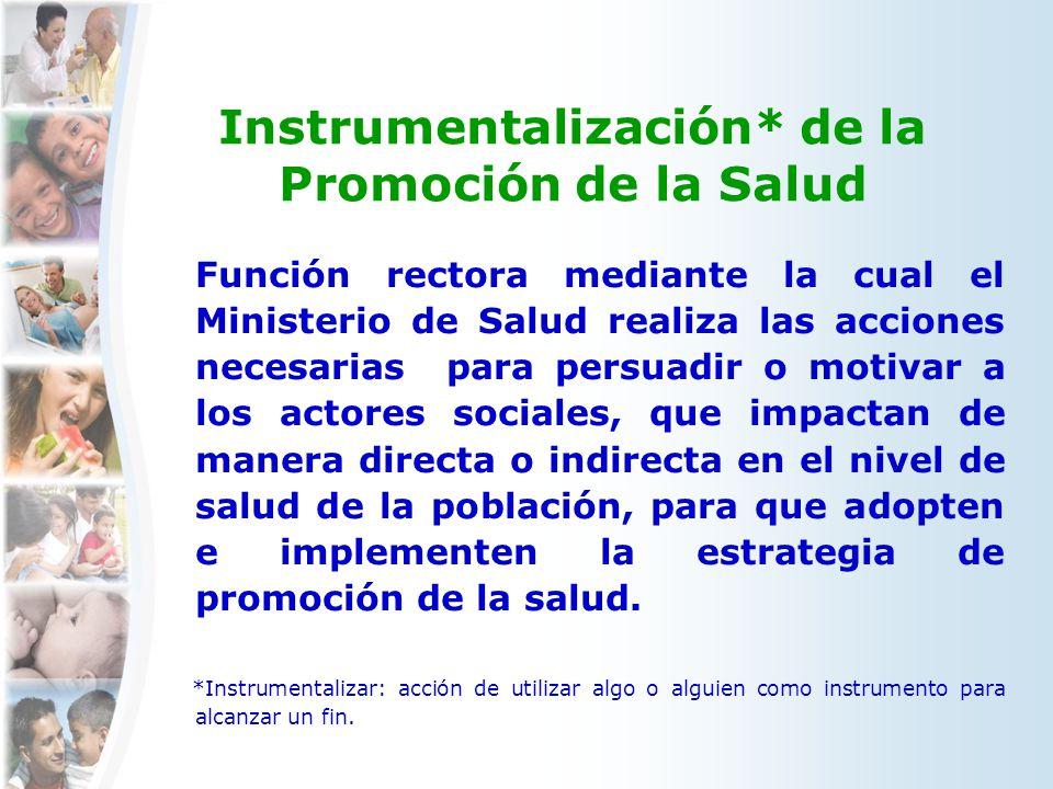 Instrumentalización* de la Promoción de la Salud