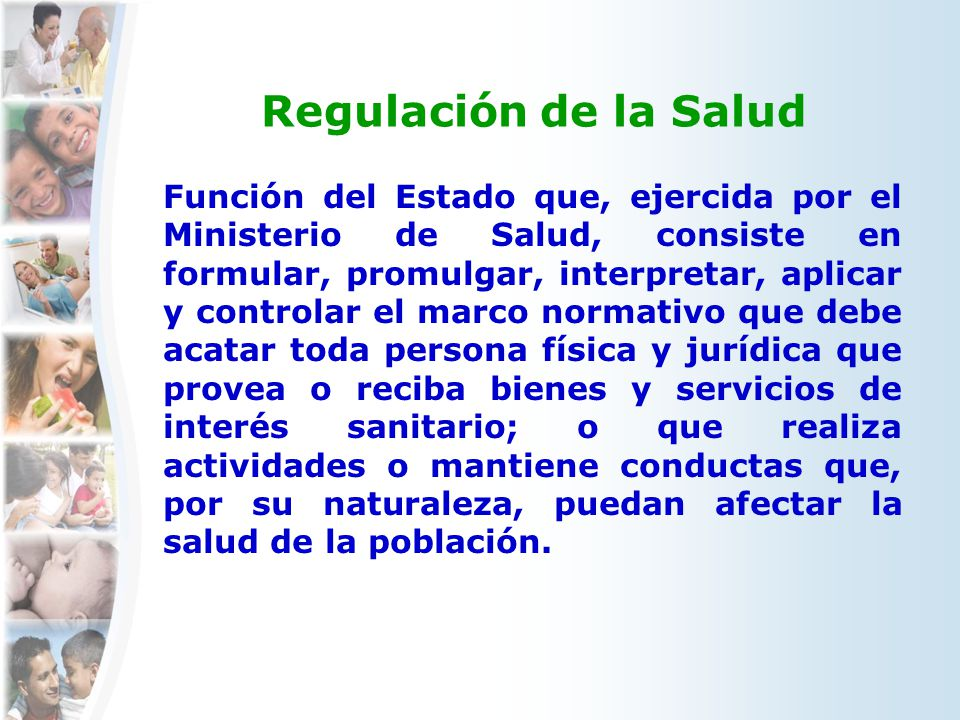 Regulación de la Salud