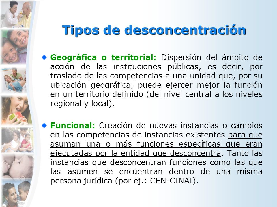 Tipos de desconcentración