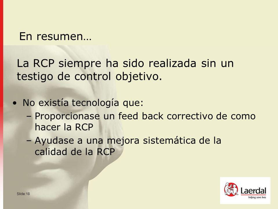 La RCP siempre ha sido realizada sin un testigo de control objetivo.