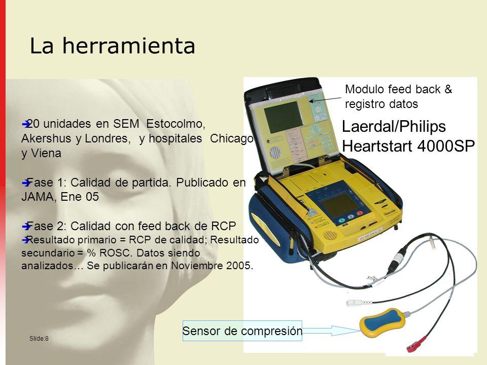 La herramienta Laerdal/Philips Heartstart 4000SP Modulo feed back &
