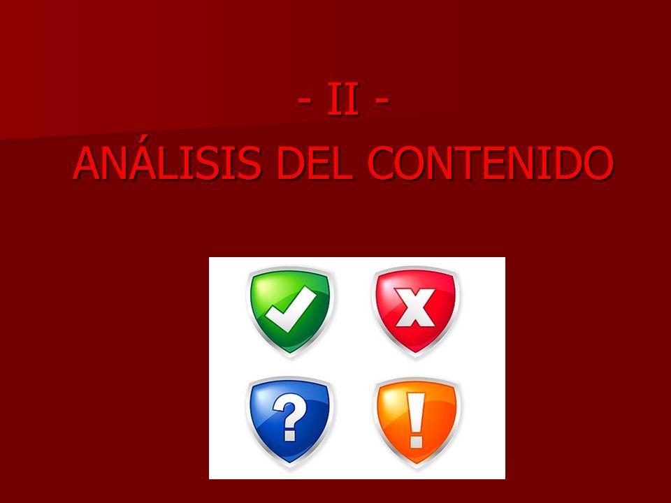 ANÁLISIS DEL CONTENIDO