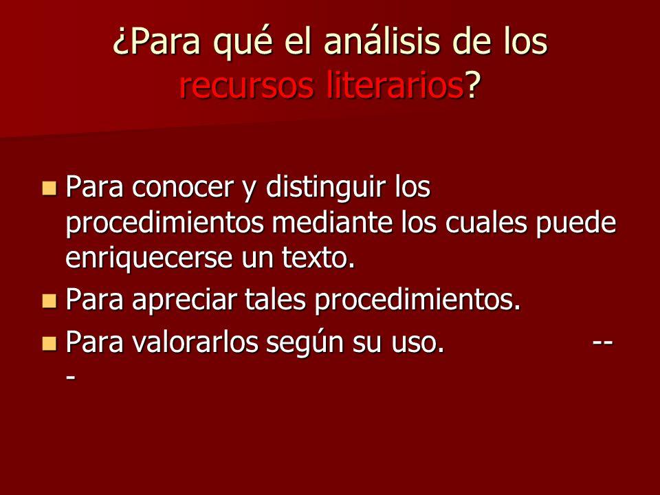 ¿Para qué el análisis de los recursos literarios