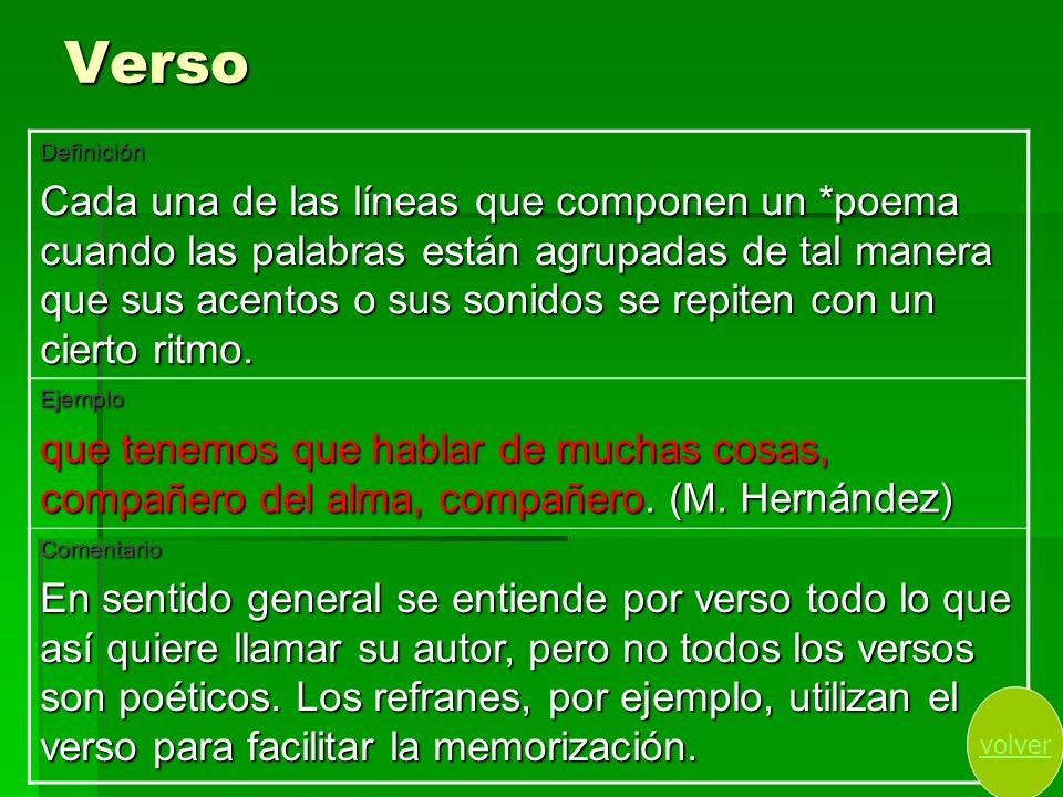 Verso Definición.