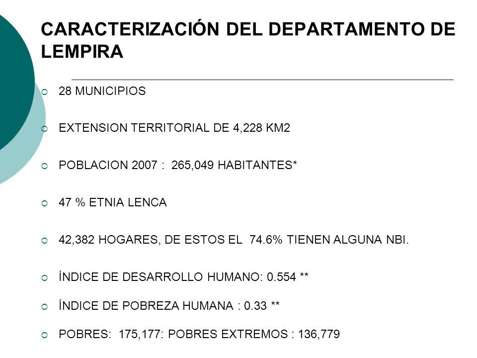 CARACTERIZACIÓN DEL DEPARTAMENTO DE LEMPIRA