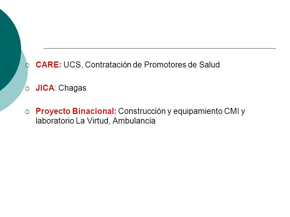 CARE: UCS, Contratación de Promotores de Salud